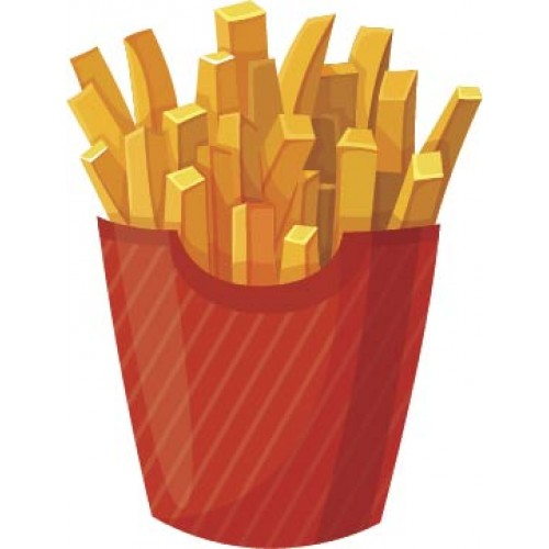 Golden French Fries Cardboard Cutout