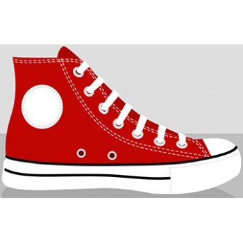 Red Classic Chucks Cardboard Cutout - $39.95
