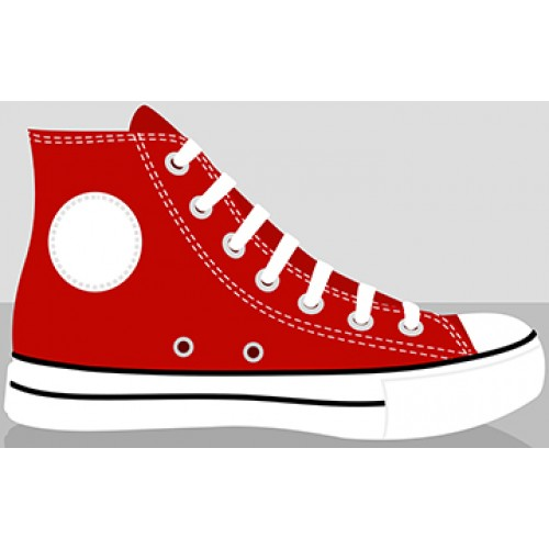 Red Classic Chucks Cardboard Cutout