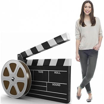 Film Real and Clapboard Cardboard Cutout - $39.95