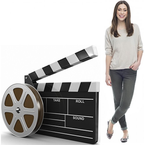 Film Real and Clapboard Cardboard Cutout