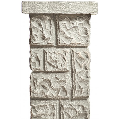 Square Stone Column Cardboard Cutout