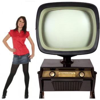 Vintage TV Stand Cardboard Cutout - $49.99