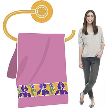 Womens Bathroom Towel Hoder and Towel Cardboard Cutout - $49.99