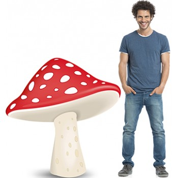 Red and White Spotted Mushroom Cap Cardboard Cutout - $39.99