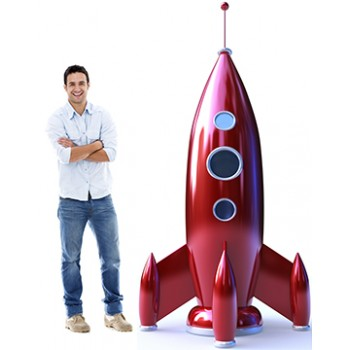 Red Rocket Cardboard Cutout - $59.99