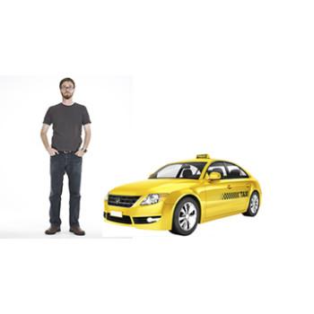 Modern Yellow Taxi Cardboard Cutout - $39.95