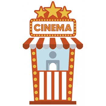 Cinema Booth Cardboard Cutout - $59.99