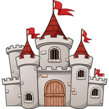 Cartoony Castle Cardboard Cutout