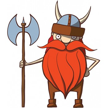 Cartoon Viking Cardboard Cutout
