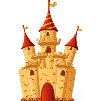 Fairy Castle Cardboard Cutout