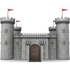 Castle Wall 1 Cardboard Cutout