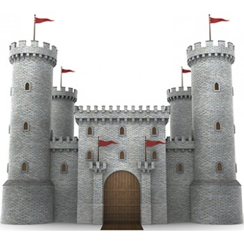 Castle Wall 2 Cardboard Cutout
