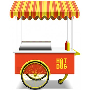 Hot Dog Stand Cardboard Cutout - $49.99