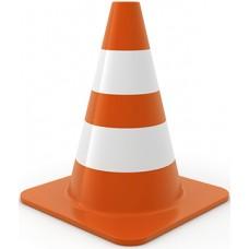 Traffic Cone Cardboard Cutout