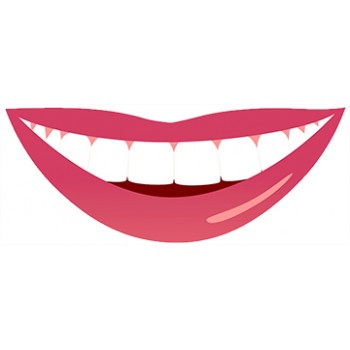 Smiling Mouth Cardboard Cutout - $59.99