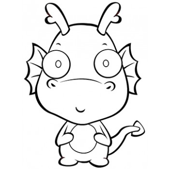 Baby Dragon Cardboard Coloring Cutout - $14.99