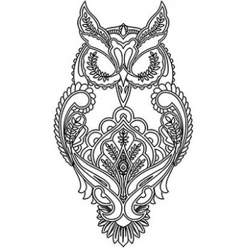 Decorative Owl Cardboard Coloring Cutout