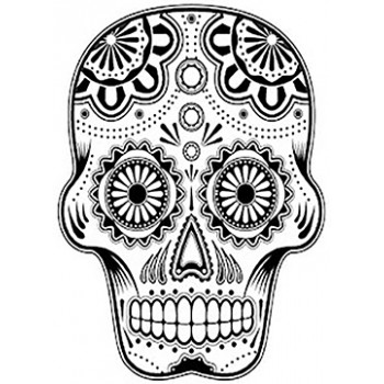 Decorative Skull Cardboard Coloring Cutout - $14.99