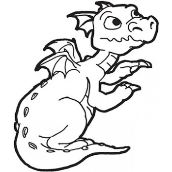Dragon Cardboard Coloring Cutout - $14.99