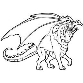 Winged Dragon Cardboard Coloring Cutout