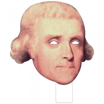 FKB25003V2 Thomas Jefferson Cardboard Mask - $0.00