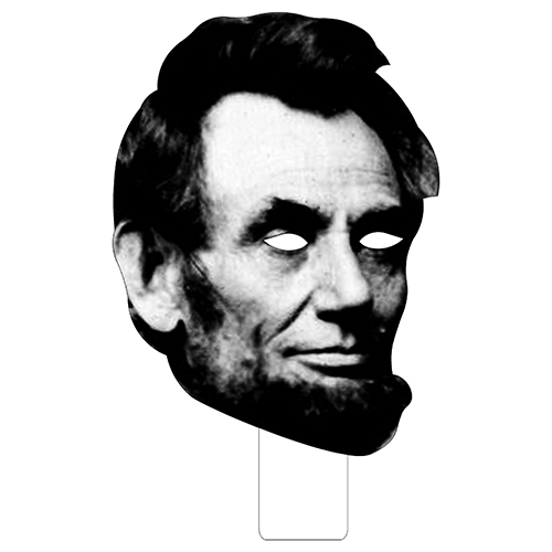 FKB25016 Abraham Lincoln Cardboard Mask