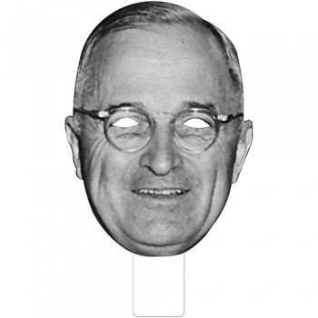 FKB25033 Harry S Truman Cardboard Mask - $0.00