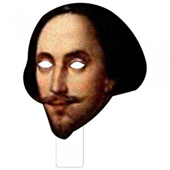 FKB79024 William Shakespeare Cardboard Mask - $0.00
