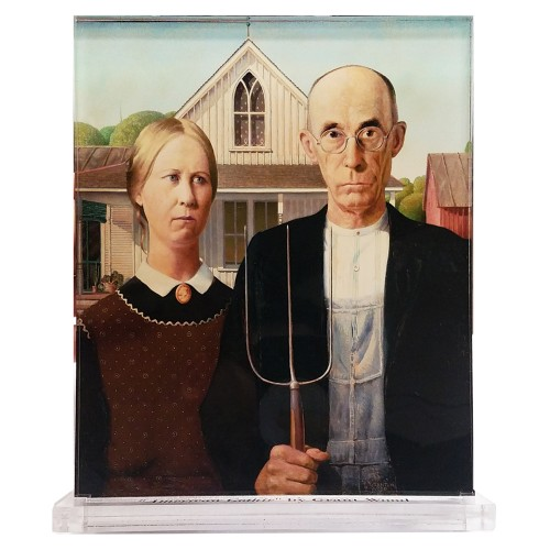 Grant Wood -- American Gothic