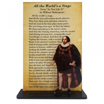 William Shakespeare -- All The Worlds A Stage - $49.95