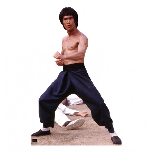 Bruce Lee Fight Stance Cardboard Cutout