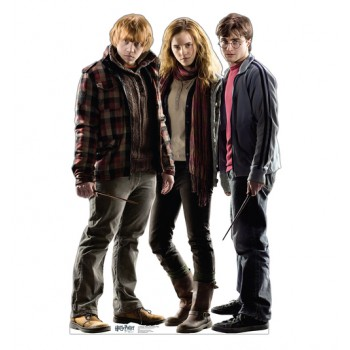 Harry, Hermione, and Ron Harry Potter 7 Cardboard Cutout