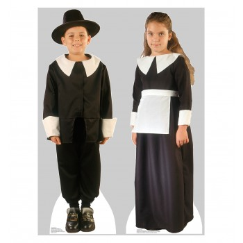 Pilgrim Boy and Pilgrim Girl Set Cardboard Cutout - $39.95