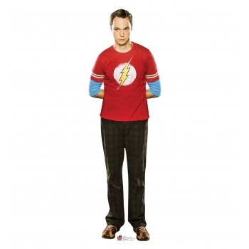 Sheldon Red Shirt Big Bang Theory Cardboard Cutout
