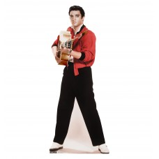 Elvis Black, and White Cardboard Cutout