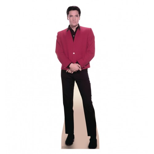 Elvis Red Jacket Cardboard Cutout