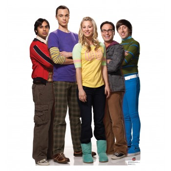 Raj, Sheldon, Penny, Leonard, and Howard Big Bang Theory Cardboard Cutout