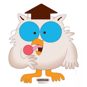 Mr Owl Tootsie Roll Cardboard Cutout - $24.95