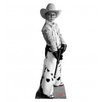 Ralphie Black, and White A Christmas Story Cardboard Cutout