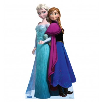 Elsa and Anna Disney s Frozen Cardboard Cutout
