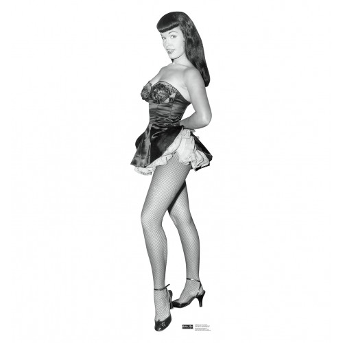 Bettie Page Fish Net Nylons Cardboard Cutout