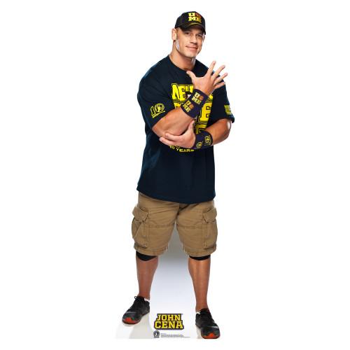 John Cena Navy and Gold Shirt On WWE Cardboard Cutout