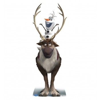 Sven and Olaf Disney s Frozen Cardboard Cutout - $39.95