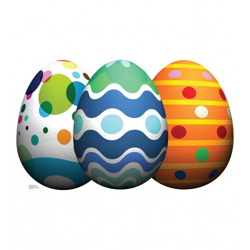 Easter Egg Grouping Cardboard Cutout