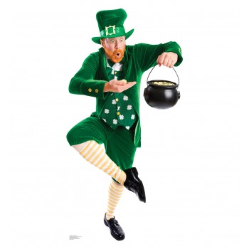 Leprechaun Pot of Gold Cardboard Cutout