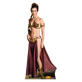Princess Leia Slavegirl Star Wars (Retouched) Cardboard Cutout