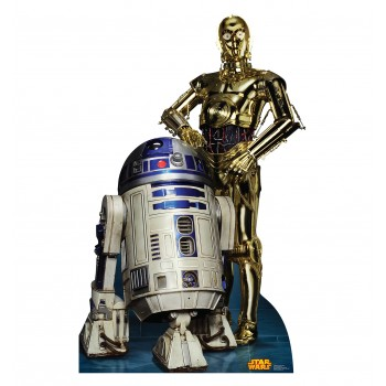 R2 D2 and C 3PO Star Wars (Retouched) Cardboard Cutout - $39.95