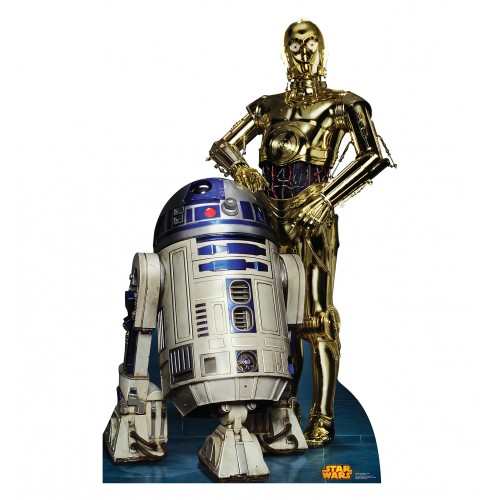 R2 D2 and C 3PO Star Wars (Retouched) Cardboard Cutout