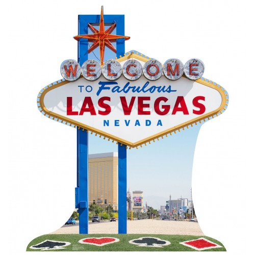 Vegas Sign Cardboard Cutout